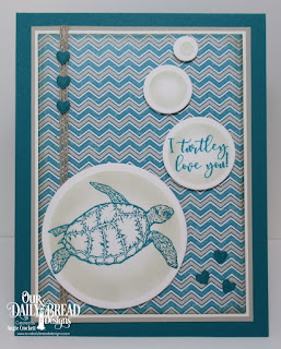 Our Daily Bread Designs Stamp/Die Duos: Turtle Love, Custom Dies: Rectangles, Circles, Umbrellas,  Paper Collection:By The Shore