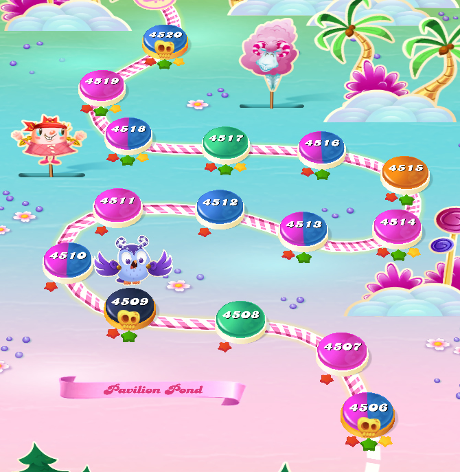 Candy Crush Saga level 4506-4520
