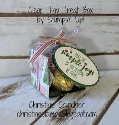 Clear Tiny Treat Box Stampin Up