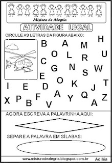 Atividade legal de alfabetização H