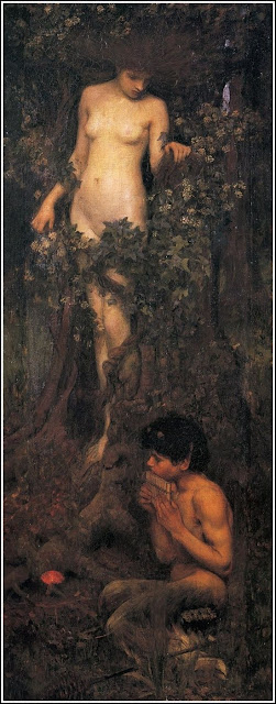 """A Hamadryad""  John William Waterhouse"