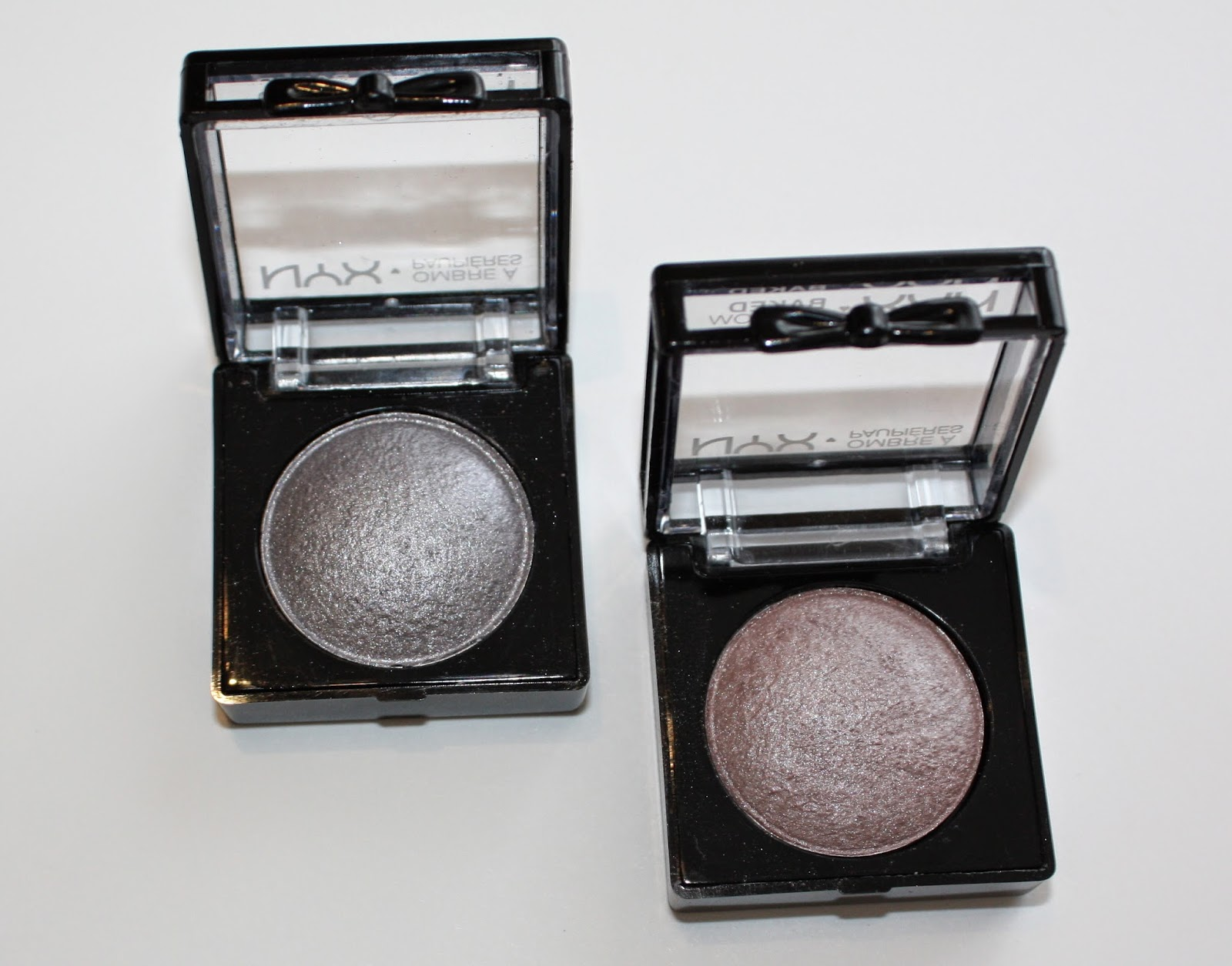 NYX Baked Eyeshadow in Death Star and Vesper Review & Swatches