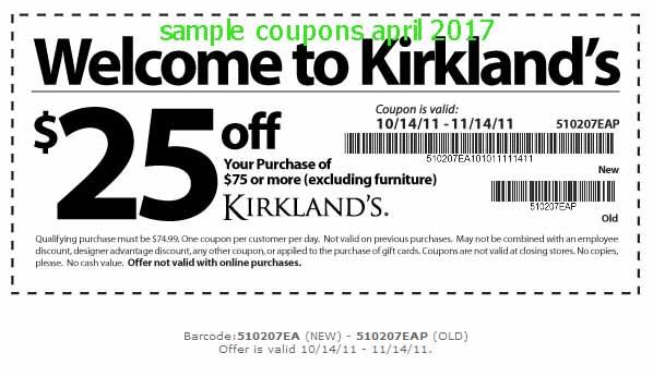 Kirklands coupons may 2018