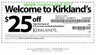 Kirklands coupons april 2017