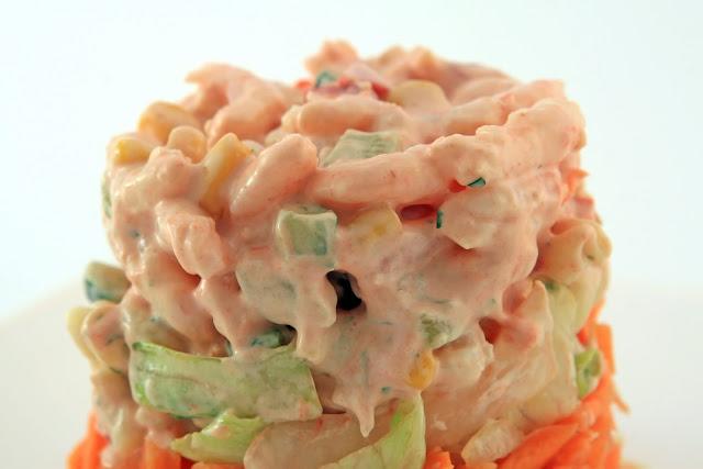 Ensalada de papas con camarones