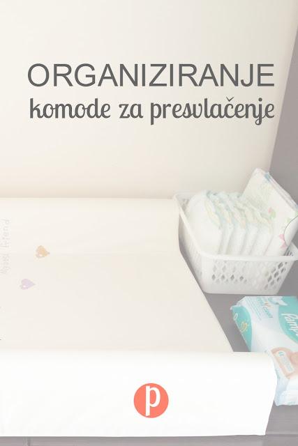 Organiziranje komode za presvlačenje bebe