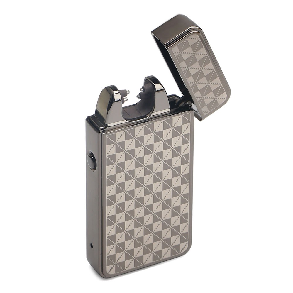 DROK 200185 Windproof Flameless Cigar Lighter, USB Rechargeable Double Arc Cigarette Lighter