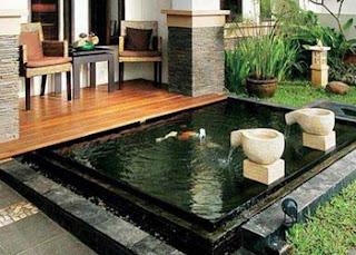 kolam ikan hias depan rumah minimalis dan terbaik