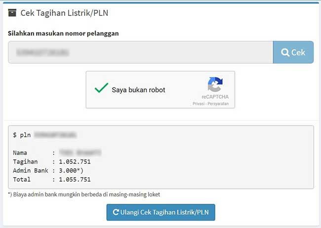 Cek Tunggakan Listrik PLN via Web