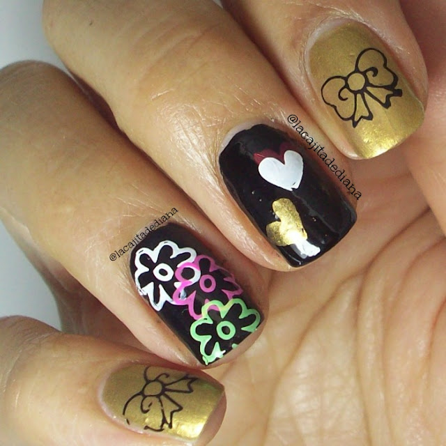 Nailart-Placas-Estampación-flores