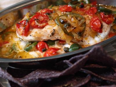 Food wishes video recipes veracruz style red snapper a for Fish veracruz recipe