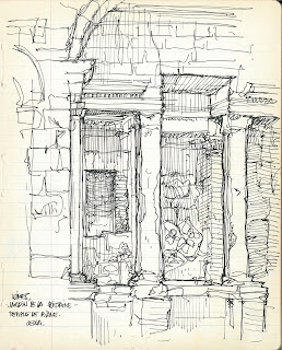usk urban sketchers sketch sketchbook croquis arnaud de meyer architecture architecte luxembourg