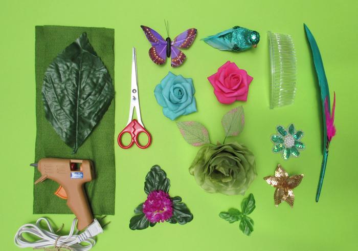 VALENTINA VAGUADA: diy, hair comb, spring, summer, colorful, fun