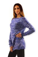 Pulover tricotat cu torsade la spate