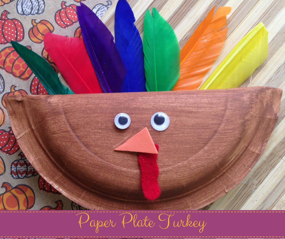 Turkey Paper Craft With Folded Tail
