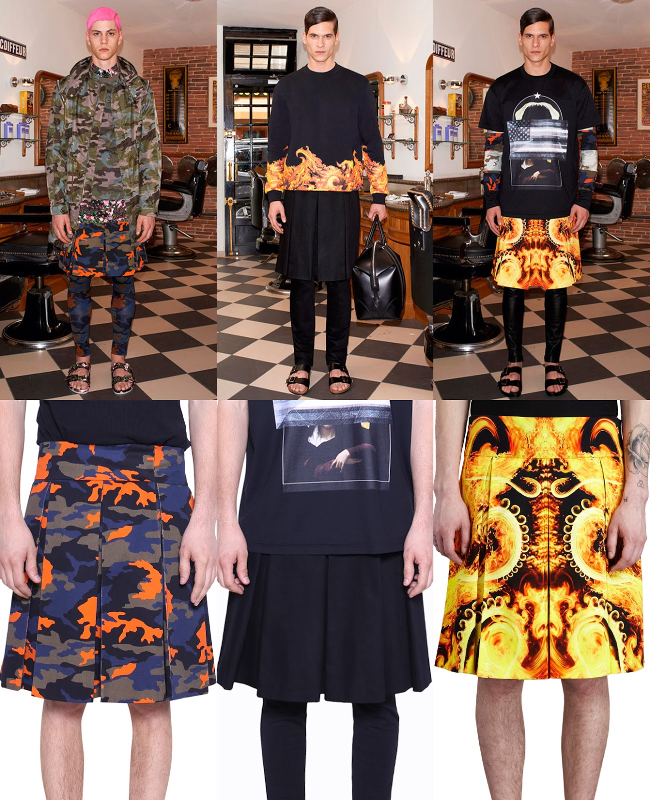 OPOLOP POPPY  Givenchy Men Pre-Spring 2014   Kilts  Mens Skirt 42323aae9ee6