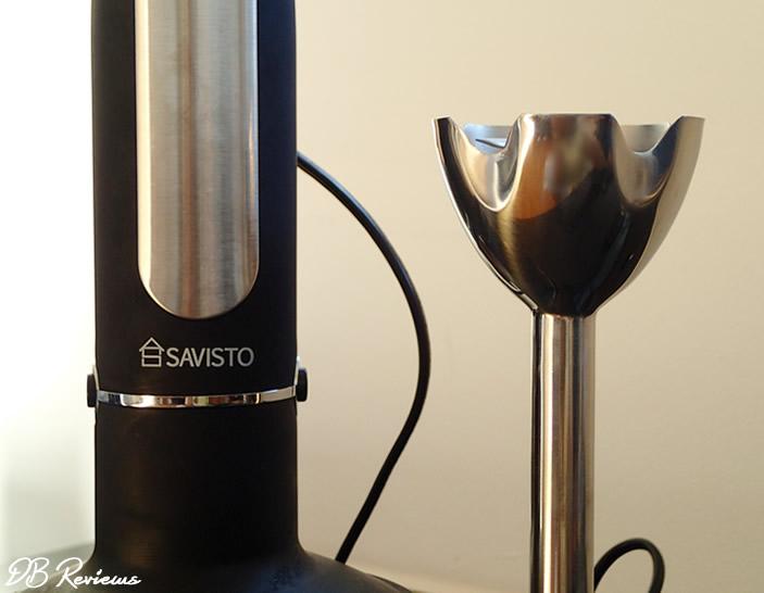 Savisto 3 in 1 Hand Blender Set with Attachments in Black