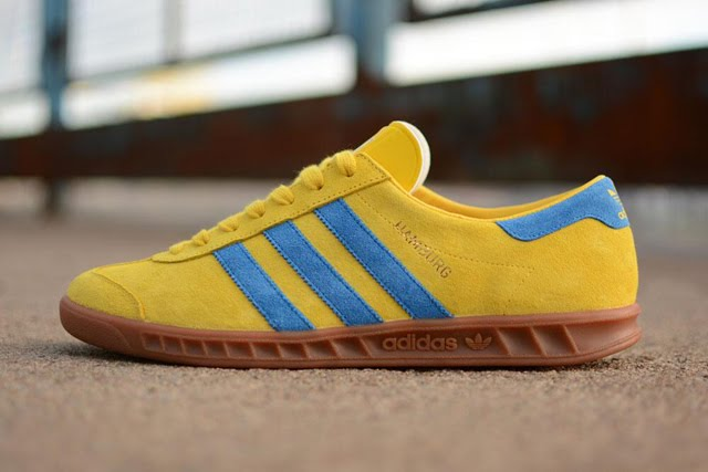 Adidas Hamburg Yellow / Blue / Gum | Vintage1500