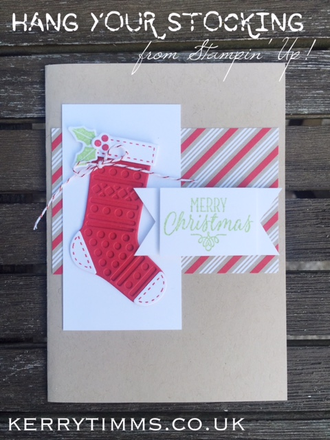 hang your stocking handmade card kerry timms stampin up demonstrator gloucester class classes create craft cardmaking papercraft scrapbooking female hobby socialise creative crafts