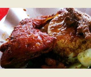 Resepi Nasi Kukus Ayam Goreng Berempah