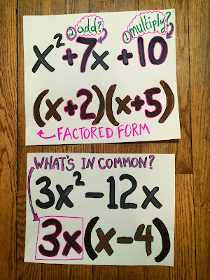 factoring quadratics example posters