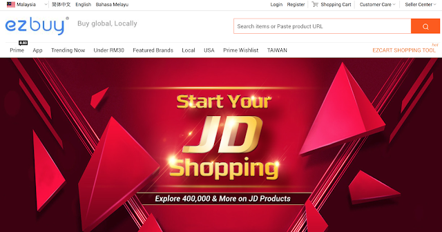 JD.com's landing page on ezbuy.my , start exploring today!