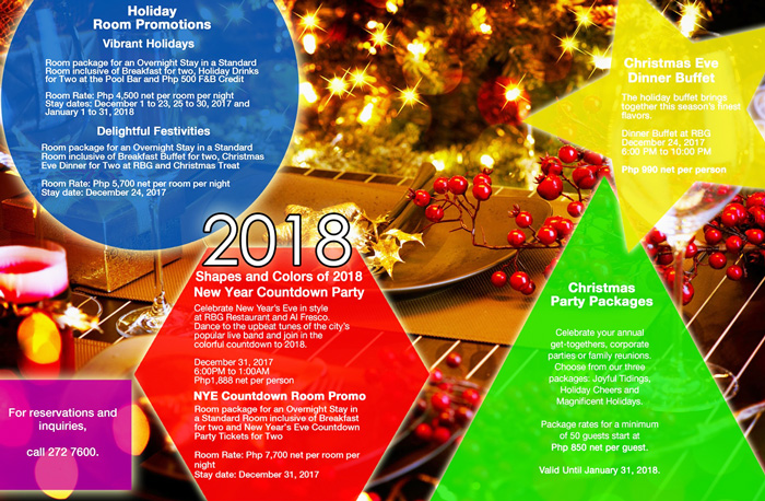 Park Inn Davao Christmas Brochure 2017