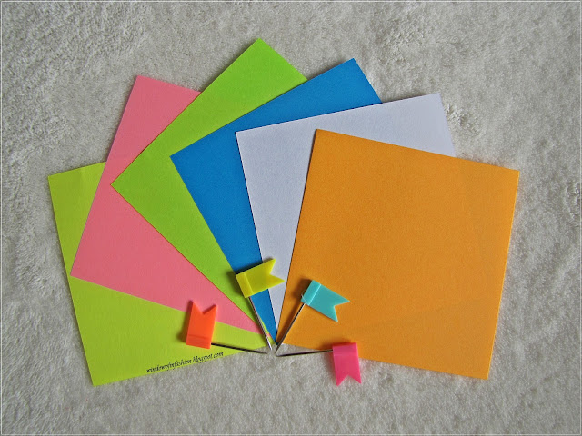 Colourful sticky notes