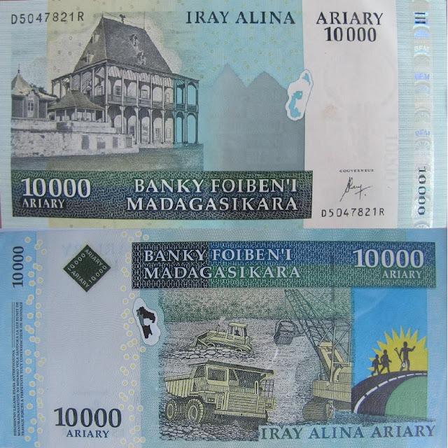10000 ariary madagascar money