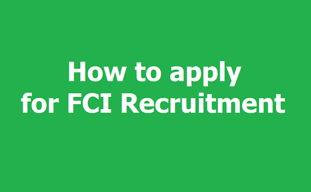 How to apply for FCI Recruitment