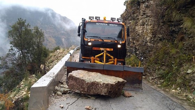 Ήπειρος: Καθαρισμός δρόμων στο Εθνικό Δίκτυο της Περιφέρειας Ηπείρου