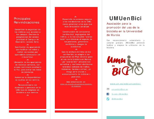 """UMU en Bici"" informa:"