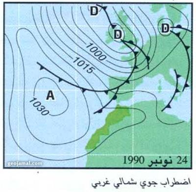 Nov air mass on morocco, Spain, Portugal