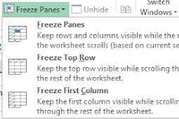 Freeze Panes Untuk Mengatur Tampilan Excel