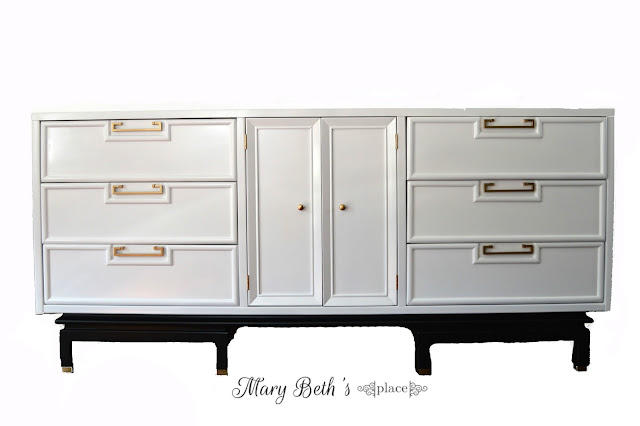 midcentury modern dresser white campaign chinoisserie american of martinsville