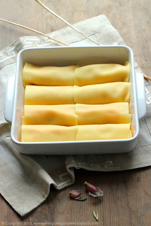 rurki cannelloni nadziewane dynią i mascarpone