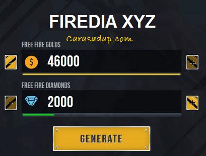 Firedia Xyz hack diamond free fire online