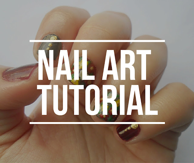 Nail art tutorial Fall flowers