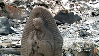 Statue of Virgin Mary survived house fire