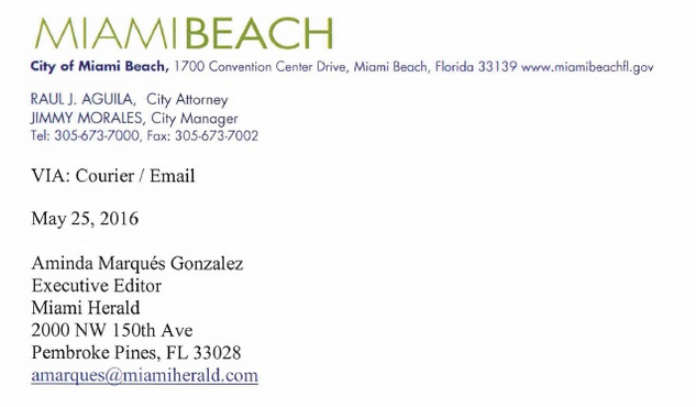 Raul Aguila City Of Miami Beach