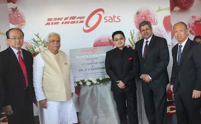 Launch of the AISATS COOLPORT at Kempegowda International Airport, by Sri. R.V. Deshpande