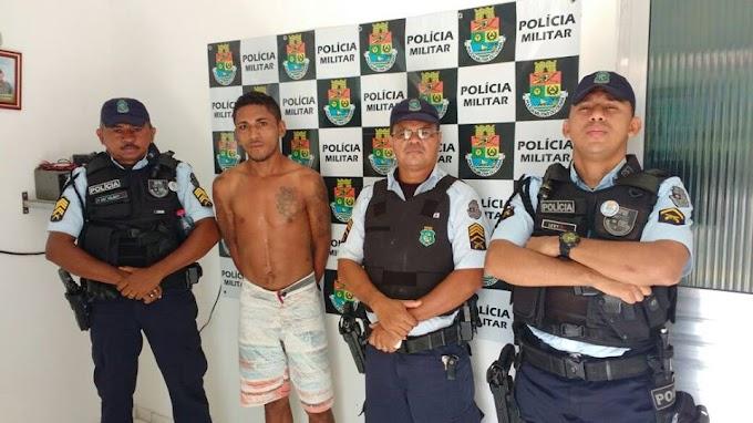 EM GROAÍRACE: POLÍCIA MILITAR  CAPTURA ASSALTANTE DE SOBRAL
