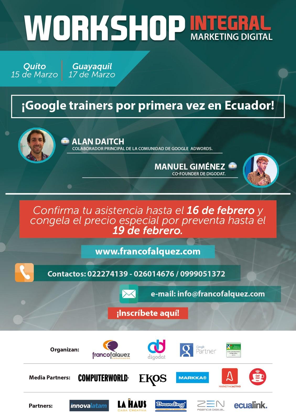Workshop Integral de Marketing Digital 2016