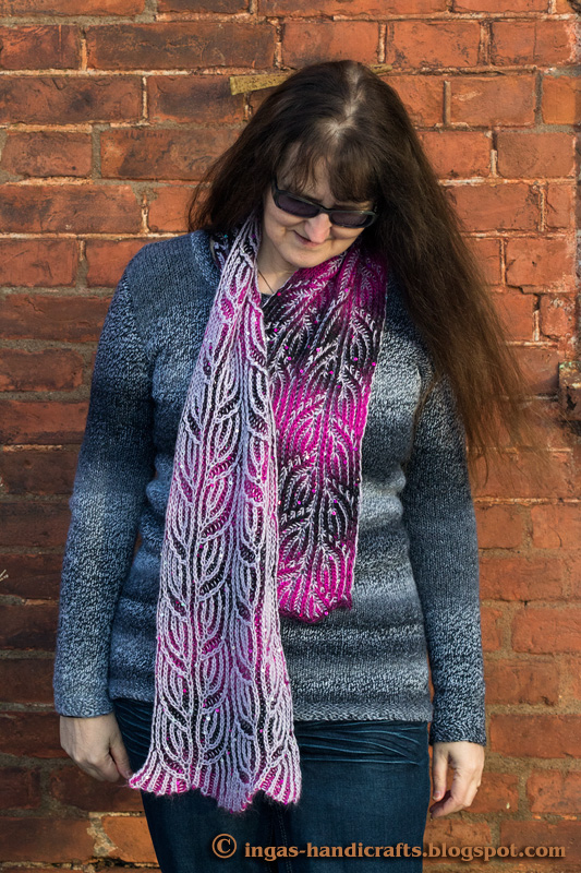 Patentkoes sall / Double Pear Leaf Scarf