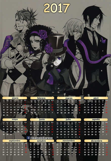 calendario 2017 black butler