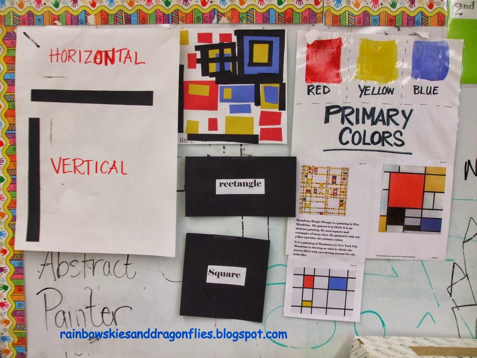 Primary Colors And Mondrian Kindergarten 1st Grade