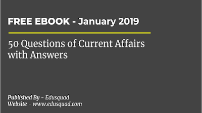 Current Affairs January - Ebook with answers