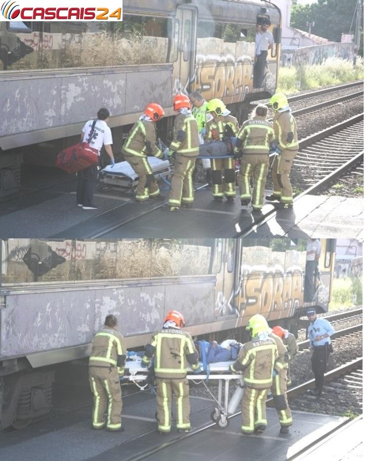 Idoso de 72 anos colhido por comboio em S. João do Estoril