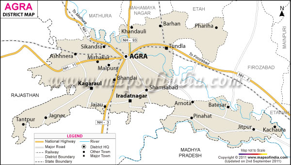 Agra City Map