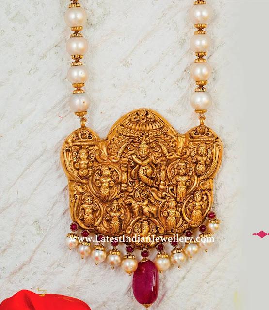 Pearl Chain Dasavataram Pendant